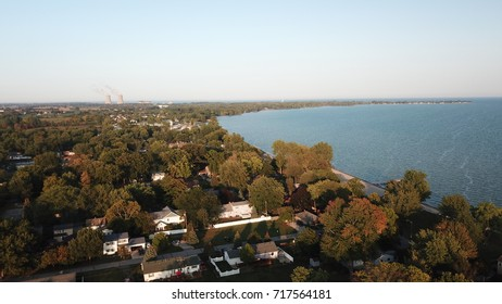 Lake Erie Shoreline - photo was taken in Monroe, Michigan with a drone
