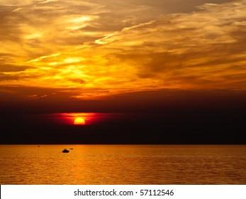 Lake Erie at Sunset