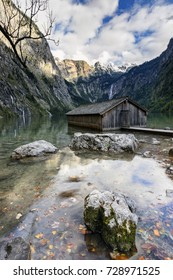 Lake Königssee, the famous lake at the foot of Mount Watzmann