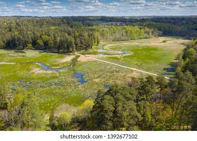 Lake and forest in Kazdanga, Latvia.