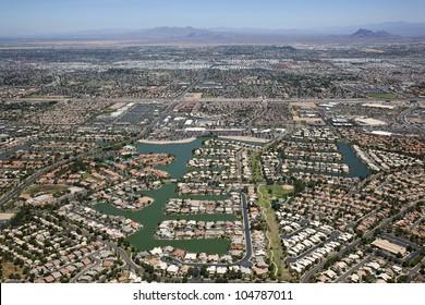 Lake front planned community in the Arizona Desert
