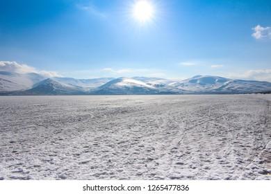 Çıldır Gölü - Çıldır Lake; It's frozen lake, in the east of Turkey