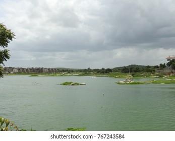 Lake full of water