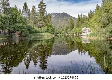 Lake Fulmor reflection Idyllwild ca