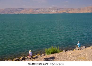 Lake Galilee at Capernaum Israel