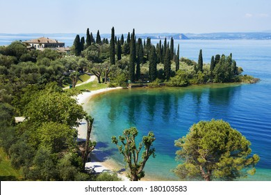lake Garda in Italy. Bay and resort camping