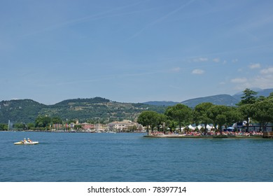 Lake Garda which is the largest lake in Italy