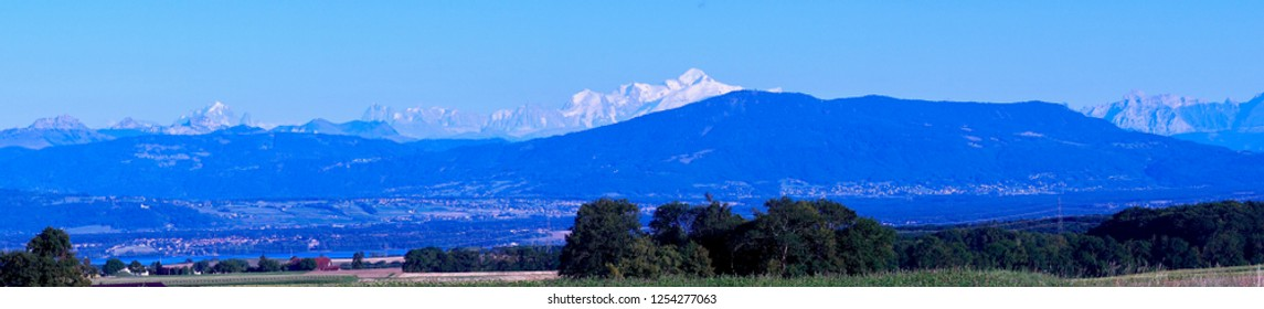 Lake of Geneva with Mont Blanc in the rear, Switzerland