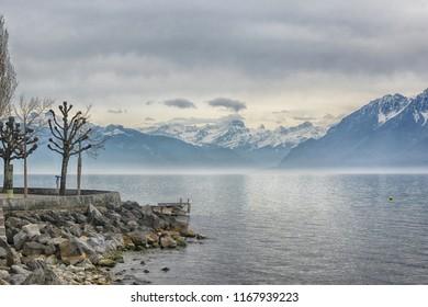 Lake Geneva near Lausanne, Europe