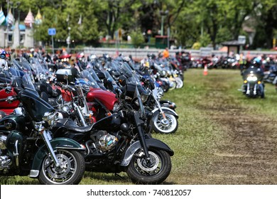 LAKE GEORGE, NEW YORK - JUNE 8 2017: Thousands of motorcycle riders descended on Lake George for the annual Americade motorcycle rally