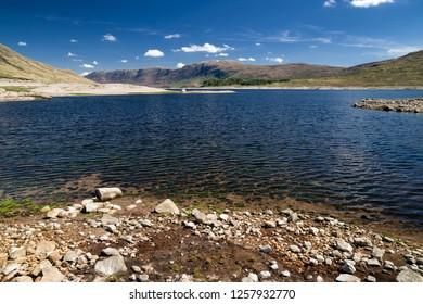 Lake in Glen Shiel at Sottish Highlands, Scotland