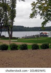 Lake in Goldap, Poland.