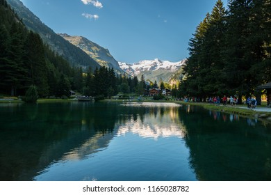 Lake Gover, Gressoney-Saint-Jean, Aosta, Valle d'Aosta, Italy