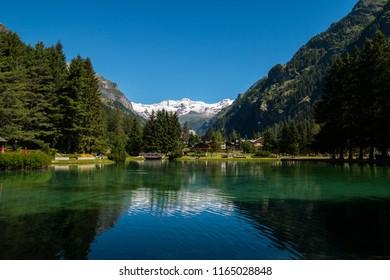Lake Gover, Gressoney-Saint-Jean, Aosta, Valle d'Aosta, Italy