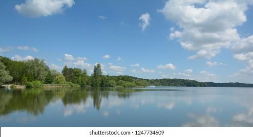 Lake Grosser Eutiner See in holstein Switzerland,Germany