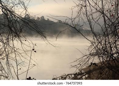 Lake Hartwell Morning Fog