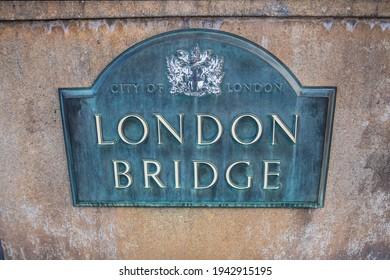 Lake Havasu, AZ, USA - January 7, 2020: The London Bridge stone marker