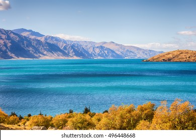 Lake Hawea in New Zealand.