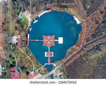 Lake Heviz thermal bath in Hungary, Europe