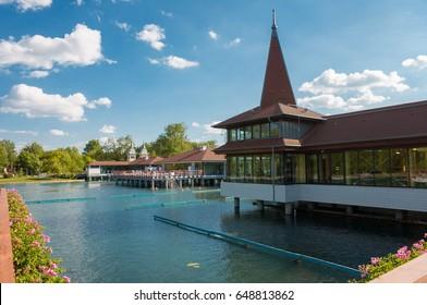 Lake Heviz thermal bath at spring