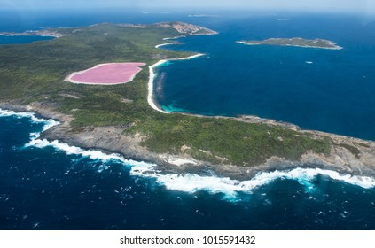 Lake Hillier on Middle Island Near Esperance, Western Australia.