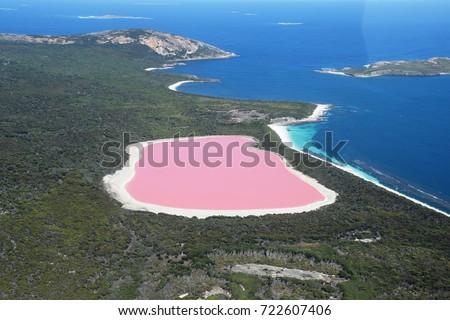 lake hillier western australia amazing pink の写真素材 今すぐ編集