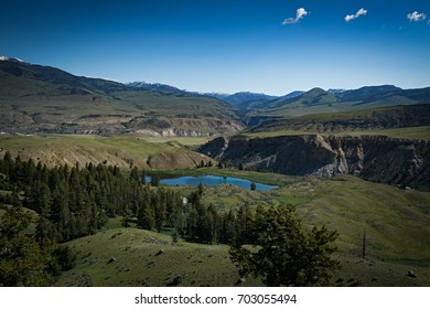 Lake in the Hills of Yellowstone National Park