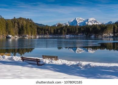 Lake Hintersee. Bavaria. Germany
