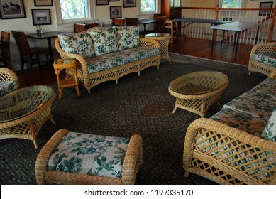 Lake Hopatcong, NJ, USA August 17, 2008 The Main Lake Market, in Lake Hopatcong, New Jersey offers a cozy summery lounge for guests to relax