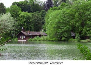 Lake house in green park in Germany, Bavaria. Perfect place for introvert