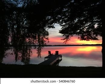 Lake house Sunset View