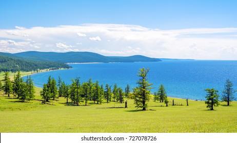 Lake Hovsgol, north-eastern coast. Mongolia.