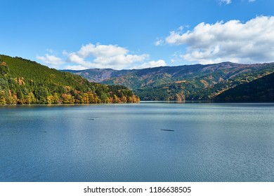 Lake Ikawa in autumn Scenery of Shizuoka prefecture