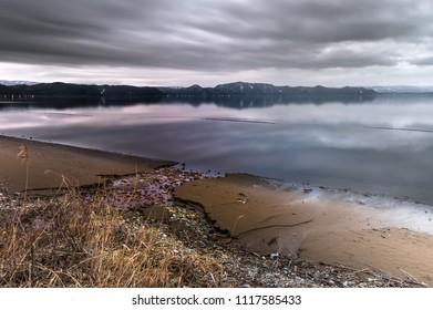 lake inawashiro fukushima japan