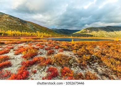 The lake of Jack London in the Magadan region.