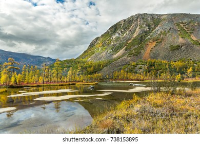 The lake of Jack London in the Magadan region