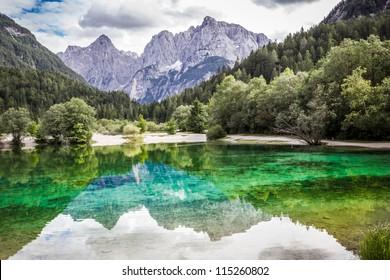 Lake Jasna near Kranjska Gora, Slovenia.