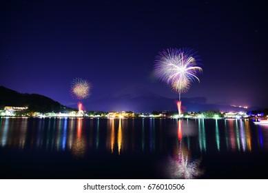 Lake Kawaguchi Firework Festival