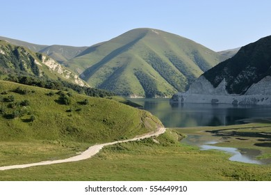 The lake Kezenoy-Am, The Caucasus Mountains, Chechen Republic ( Chechnya), Russia