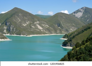 Lake Kezenoy-am in Caucasus Mountains in Chechnya, Russia.