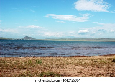Lake in Khakassia. Salt Lake