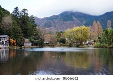 Lake Kinrinko is a natural landmark of Yufuin  in Kyushu, Japan.