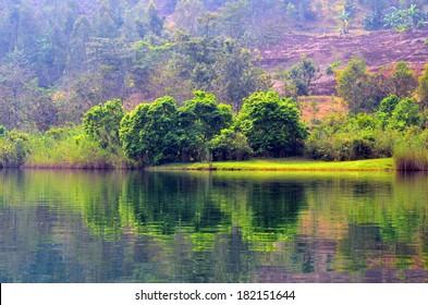 Lake Kivu Reflection