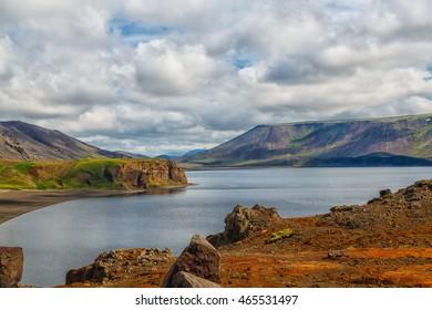 Lake Kleifarvatn near Reykjavik in Iceland