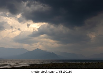 Lake Kluane National Park in Clouds and Storm