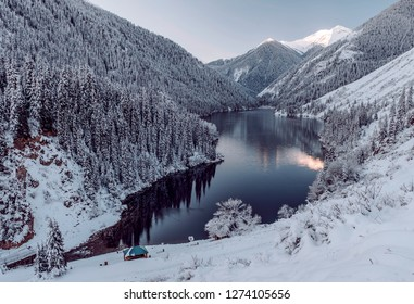 Lake Kolsay in Kazakhstan