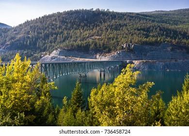 Lake Koocanusa Bridge, Montana, USA