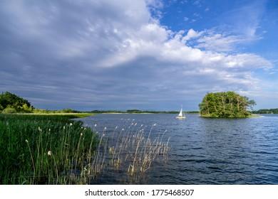 Lake Krakow in the Mecklenburg Lake District, Germany