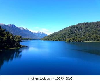 "Lake ""Lacar"" in between Mountains, San Martin de Los Andes, Argentina"