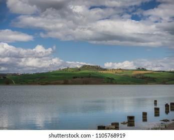 Lake lago di Chiusi in Tuscany, Italy
